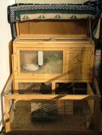 Pin haus die behausung der lappen ein alte on pinterest for Kaninchenstall einrichten